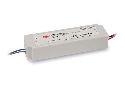 Meanwell LPV-100 Series 100W Single Output Switching Power Supply LPV-100-12 12V 8.5A IP67 Constant Voltage Design