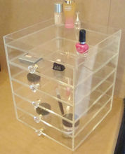 Clear transparent acrylic makeup case makeup display case supplier