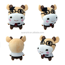 cheap plush cow well dressed custom stuffed animals