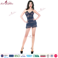 Wholesale sexy hot fashion show erotic lingerie women black babydoll sexy china lingerie factory