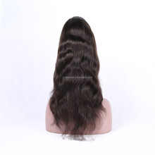 Freestyle Brown Color Indian Remy Human Hair Full Lace Wigs with Baby Hair