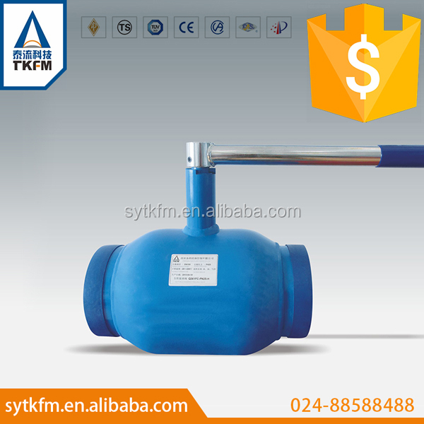 High quality lever handwheel or gear operated stainless steel full welded ball valve DN15 - 150