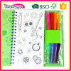 2015 New Design color pens wholesale coloring books, Magic wholesale coloring books, glossy lamination wholesale coloring books