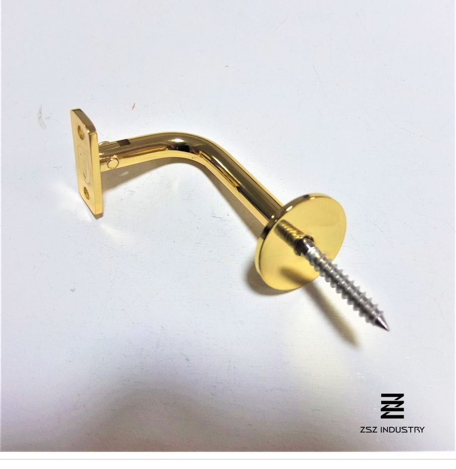 ZHB - 014 AISI 304 Gold Adjustable Stainless Steel Handrail Bracket