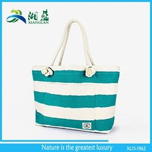 china supplier new design shopping bag handle rope, cotton rope handle tote, lady cotton bag