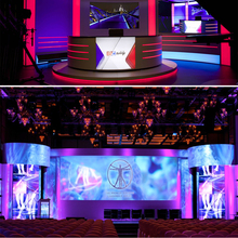 High quality HD sexy tri-color led display P2.5 full color LED video wall rental for indoor events /live