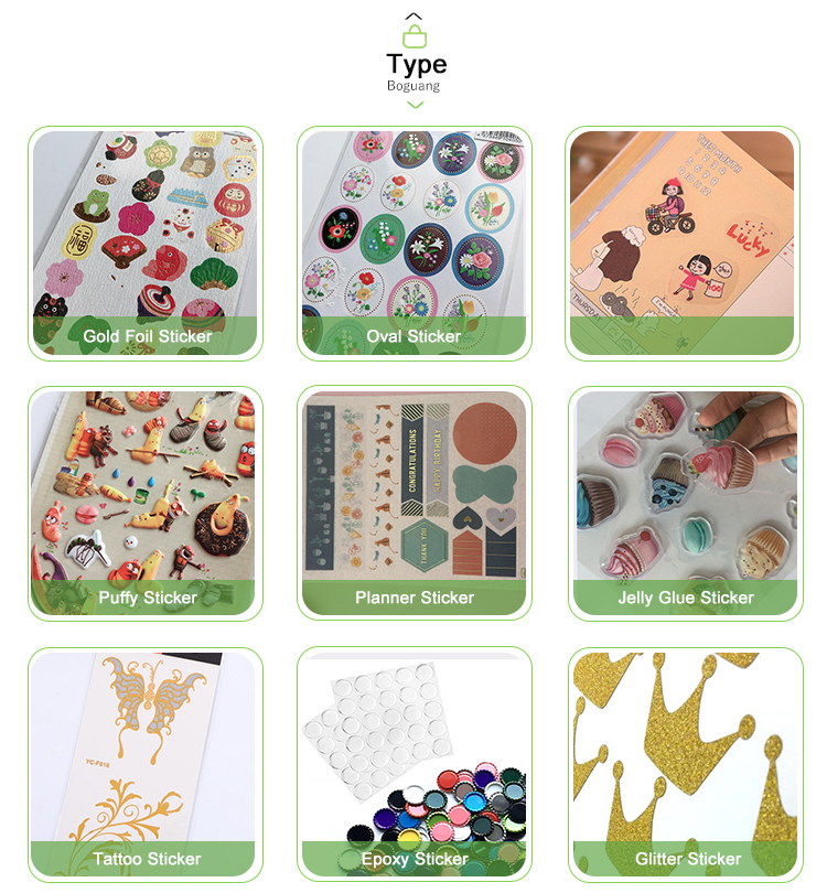 Hot Sale Customized Self Adhesive Embossed Foil Seal Sticker for Planner