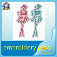 Wholesale in decorative cheap custom fashion girl embroidery patch