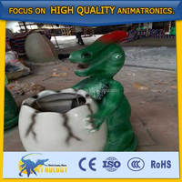 Cetnology attractive life size fiberglass dinosaurs dust bin trash can for decoration