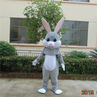 Crazy sale fast deliver animal mascot nesquik rabbit mascot costume