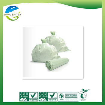Eco-friendly En 13432 Certificated Biodegradable Corn Starch Plastic Bags for the customer mass customization.