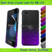 Mobile phone accessories phone case Rain drop clear crystal hard case for Blackberry Z10