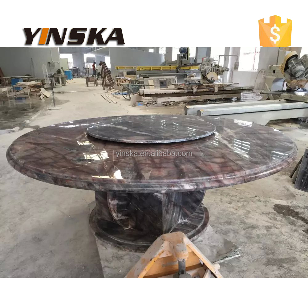12 seater rotating tops granite marble dining table