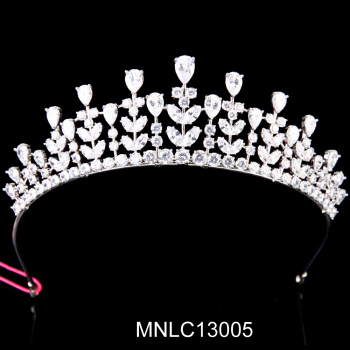 Hot selling fashion bling zircon bridal wedding tiaras