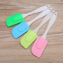 Silicone Spatula Set With Plastic Handle