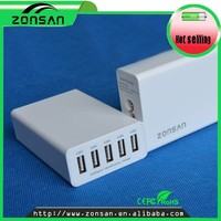 Usb travel charger 2 in 1 with hub 5 ports usb,for ipad super fast power charger,for tablet usb multi charger