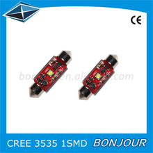 Auto 12v Super bright car led light C REE SMD red pcb led licence plate festoon Canbus led lights