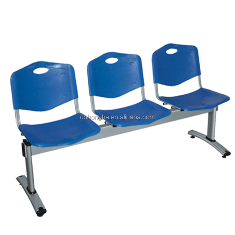 P011 plastic hospital room waiting chairs with arms