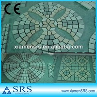 Fan flower pattern granite glow paving stone