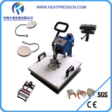 High quality 8 in 1 combo heat transfer machine for t shirt, mug, hat&plate