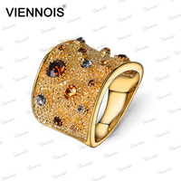 Viennois fashion new arrival wedding 18k gold plated ring jewelry