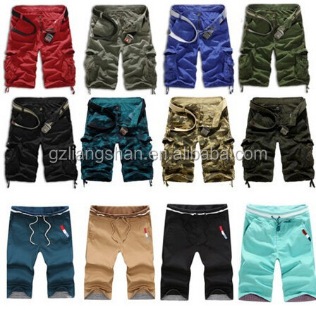 Hot Sale OEM Wholesale Fashion Men Casual Camouflage Cargo Camo Combat Work Sport Shorts with Side Pockets Pants Trousers