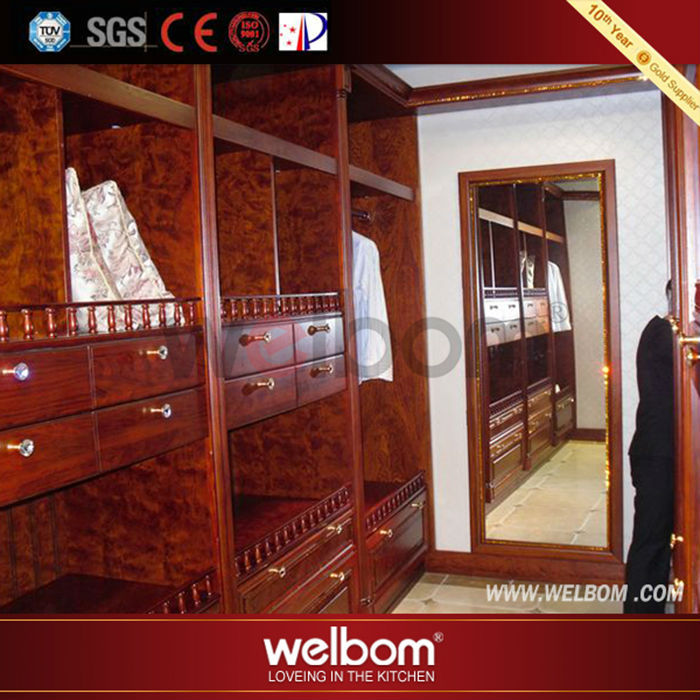 2014 high quality competitive price solid wood armoire wardrobe