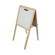 Top quality Double-sided drawing board stand in wood kids erasable drawing board