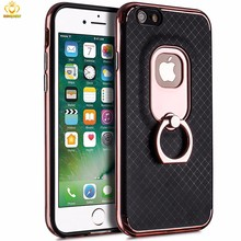 Luxury Mobile Phone Cover Skin Case for iPhone 6 6s with Stand Holder