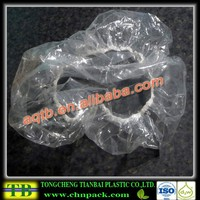 dispsoable clear PE shower cap for hotel