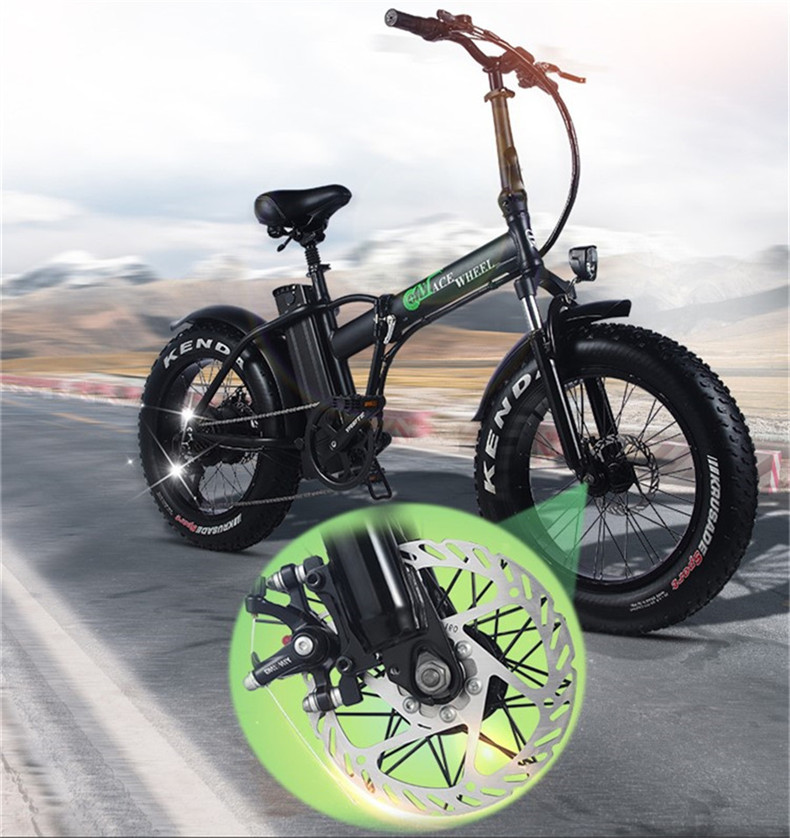 Electric  bicycle 15AH booster 4 tire snow tyres