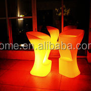 Bar chair wedding activities be riotous with colour Outdoor Plastic Led Stools/Led Furniture Fashion Bar Stool Led Bar Stool