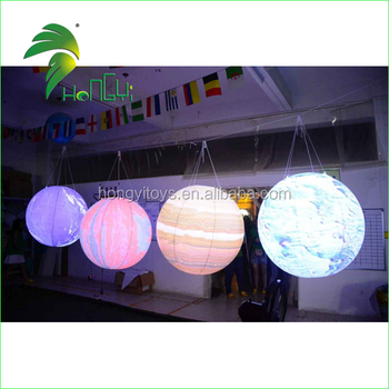 High Quality LED Inflatable Planets Balloon , Nine Planets Balloon For Advertising
