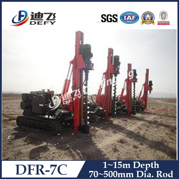 Factory price DFR-7C bore pile drilling hollow stem augers for sale
