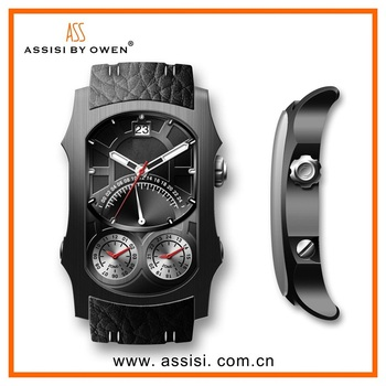 Assisi brand Wholesale china watch, multiple time zone quartz watch wristwatch for men