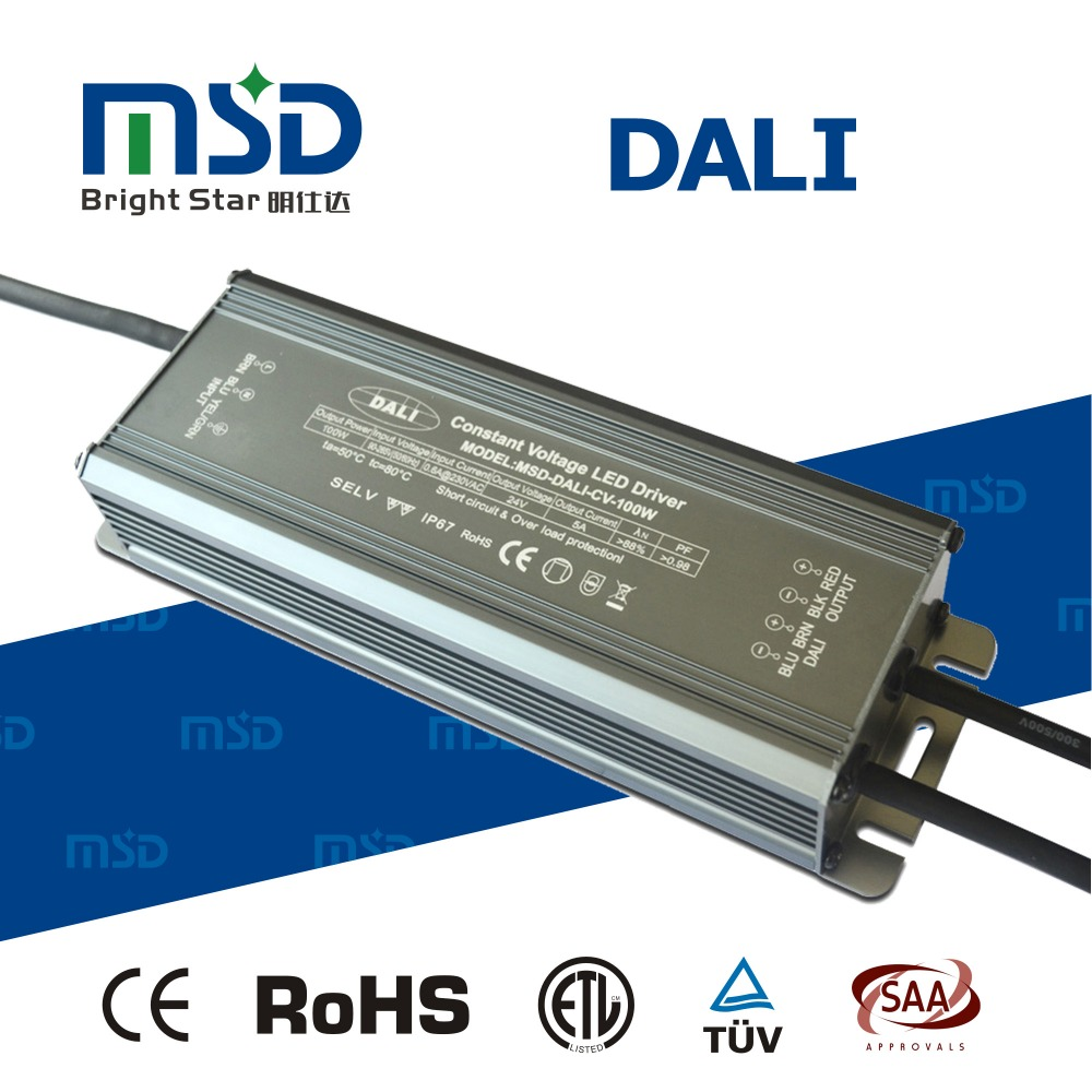 5 years warranty dali dimmable led driver 100w ac 220V to dc 12V 24V 36V transformer