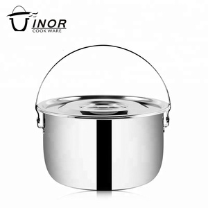 kitchen set cooking pots stainless steel cookware with rivet design
