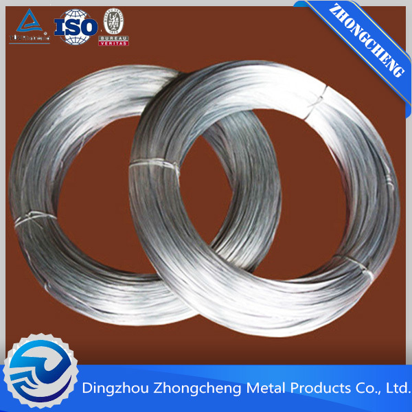 hot dipped/electro galvanized iron wire ISO9001