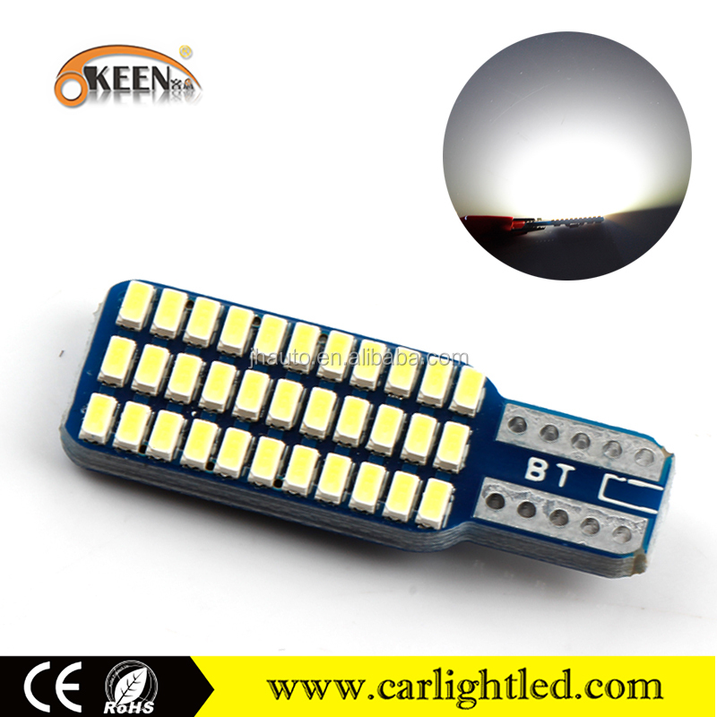 KEEN high quality 12V Canbus T10 3014 33SMD car led reverse light auto bulbs white/red/amber/blue/green