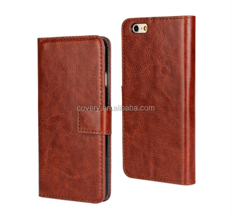 Retro Leather Business Style for iPhone 6 Wallet Case Generic Cover Credit Card