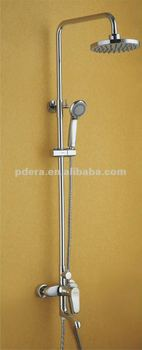 brass square shower set