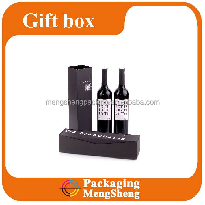 Luxury decorative paper wine bottle gift boxes