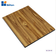 China Supplier Exterior Wooden Grain Curtain Wall Aluminum Composite Panel