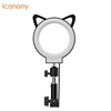 Indoor professional deformable transformable ring light selfie with phone hoder macro phone for live stream online celebrity