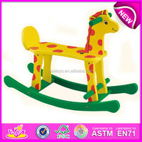2015 hot kids wooden rocking horse handles for children,solid wooden horse for kids W16D021-x-S