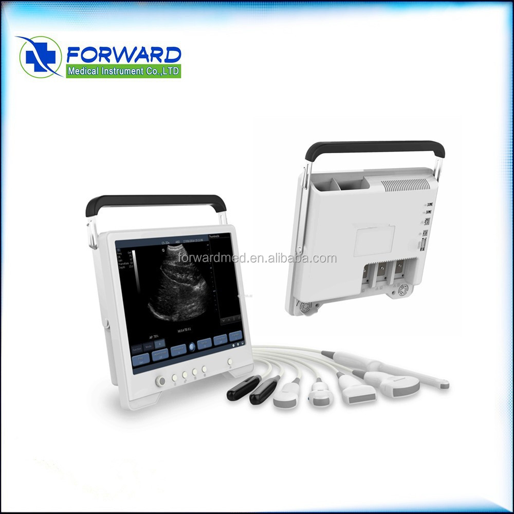 Handheld ultrasound with transvaginal probe