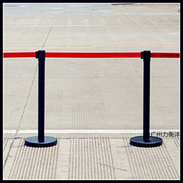crowd control stanchion/retractable belt barrier stand/metal queue post