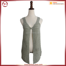 Sleeveless sexy design woman knitwear