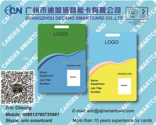 Preprinted printable Plastic PVC membership ID card with photo printing