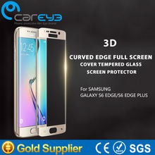 cell phone 3d curved 100% full cover remove air bubbles tempered glass screen protector for Samsung Galaxy S6 edge plus
